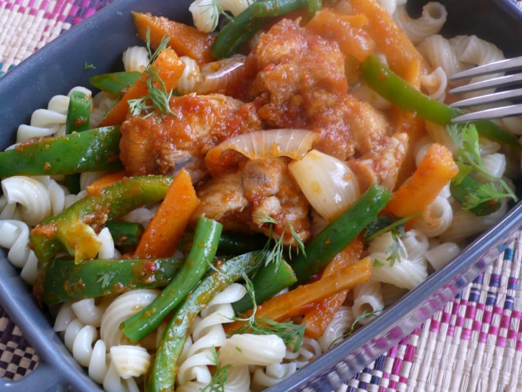 Nigerian Turkey Stew with Macaroni - 1Qfoodplatter Nigerian Food Blog