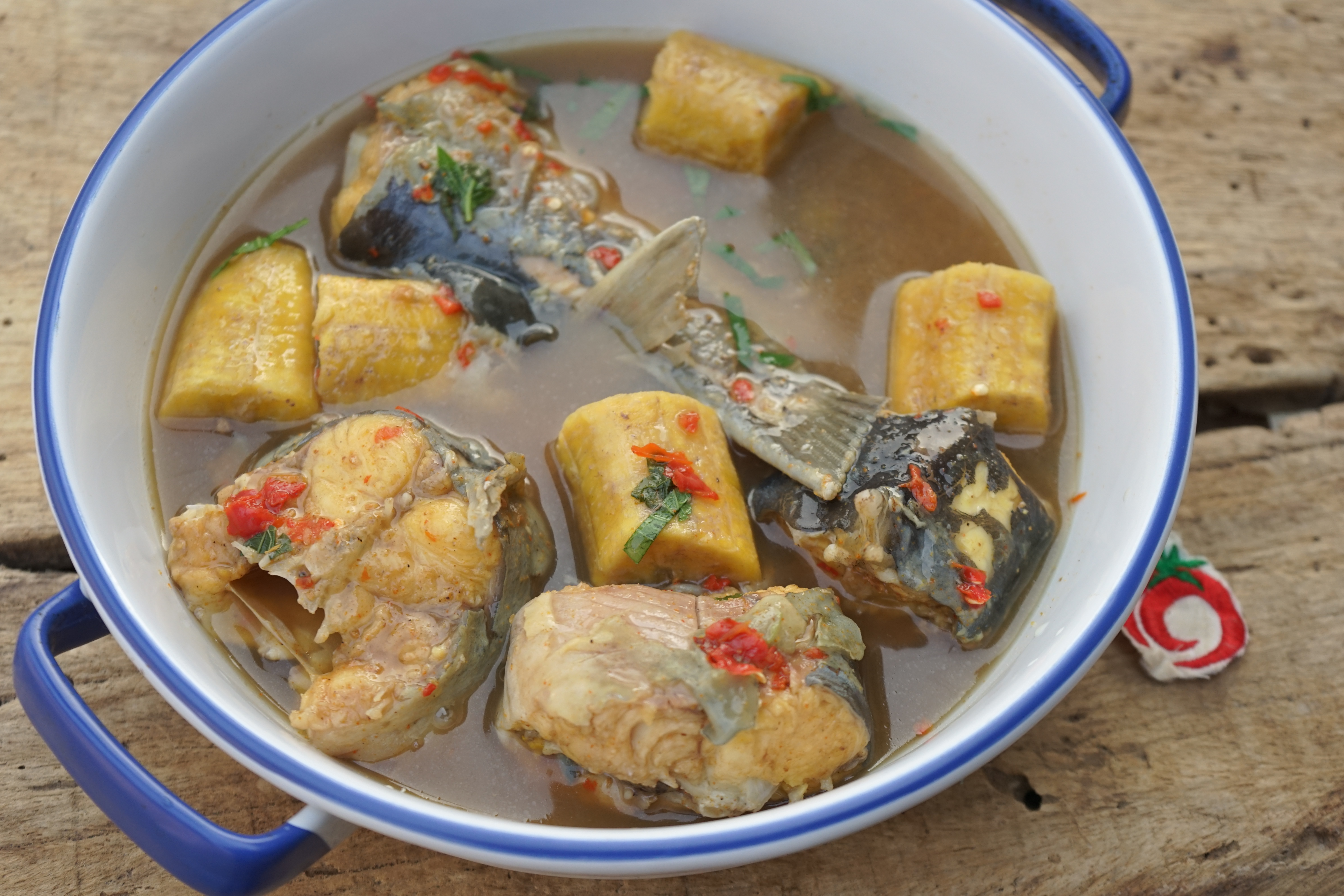 Plantain and Fish Peppersoup - 1Qfoodplatter Nigerian Food Blog